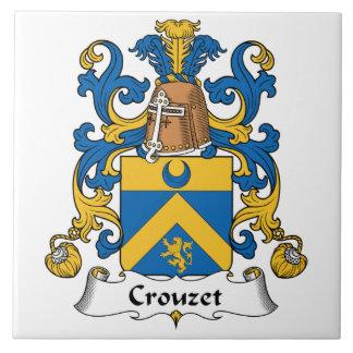 Escudo de la familia de Crouzet Azulejo Cuadrado Grande