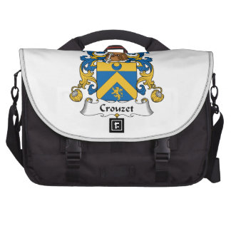 Escudo de la familia de Crouzet Bolsas De Ordenador