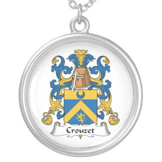 Escudo de la familia de Crouzet Colgante Redondo