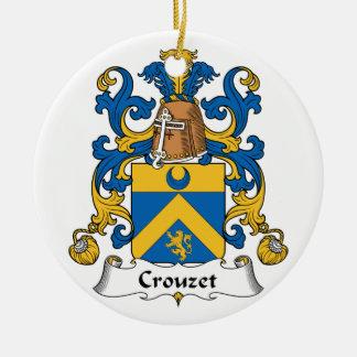 Escudo de la familia de Crouzet Adorno Redondo De Cerámica