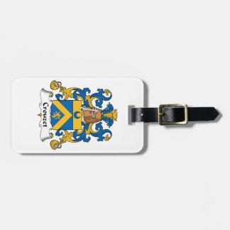 Escudo de la familia de Crouzet Etiqueta Para Maleta