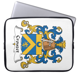 Escudo de la familia de Crouzet Funda Portátil