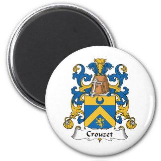 Escudo de la familia de Crouzet Imán Redondo 5 Cm