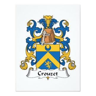 """Escudo de la familia de Crouzet Invitación 6.5"""" X 8.75"""""""