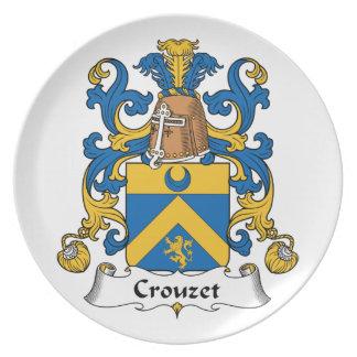 Escudo de la familia de Crouzet Plato De Comida