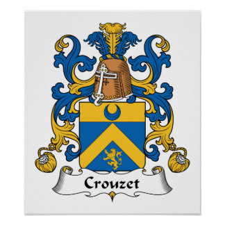 Escudo de la familia de Crouzet Póster