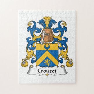 Escudo de la familia de Crouzet Rompecabezas Con Fotos