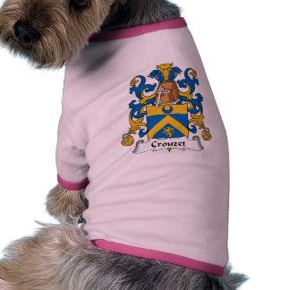 Escudo de la familia de Crouzet Camiseta Con Mangas Para Perro