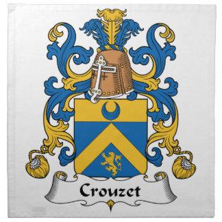 Escudo de la familia de Crouzet Servilletas Imprimidas