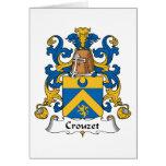 Escudo de la familia de Crouzet Tarjetón