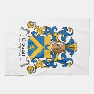 Escudo de la familia de Crouzet Toallas