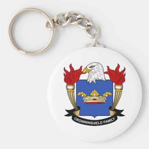Escudo de la familia de Crowninshield Llavero Redondo Tipo Pin