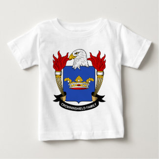 Escudo de la familia de Crowninshield Playera De Bebé