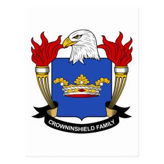 Escudo de la familia de Crowninshield Postal