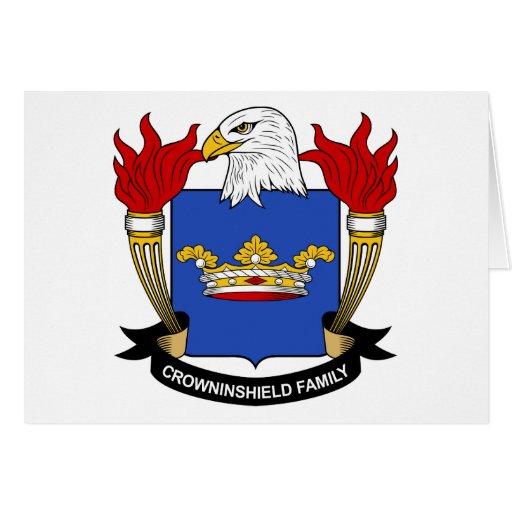 Escudo de la familia de Crowninshield Tarjetón