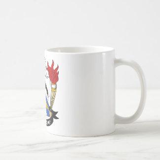 Escudo de la familia de Cruger Taza De Café
