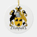 Escudo de la familia de Cruikshank Ornamento Para Arbol De Navidad