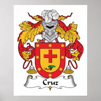 Escudo de la familia de Cruz Impresiones