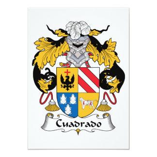 Escudo de la familia de Cuadrado Invitacion Personalizada