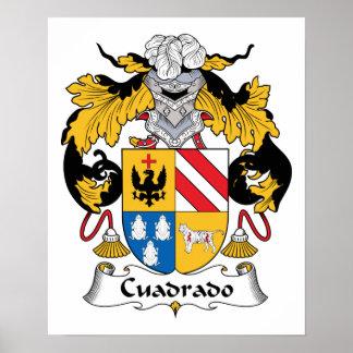 Escudo de la familia de Cuadrado Posters