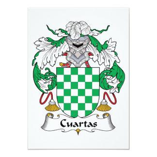 Escudo de la familia de Cuartas Invitación Personalizada