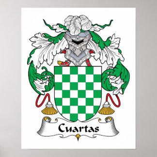 Escudo de la familia de Cuartas Posters