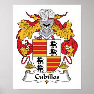 Escudo de la familia de Cubillos Poster