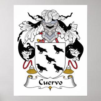 Escudo de la familia de Cuervo Impresiones