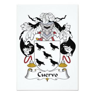 Escudo de la familia de Cuervo Invitación