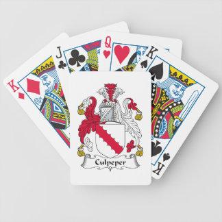 Escudo de la familia de Culpeper Baraja De Cartas