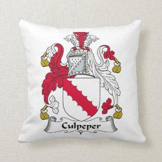 Escudo de la familia de Culpeper Cojines