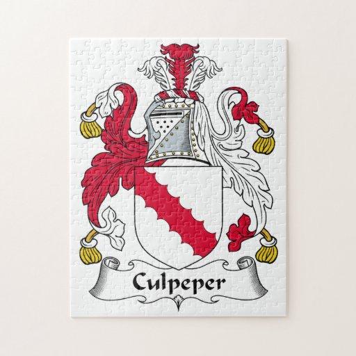 Escudo de la familia de Culpeper Puzzles