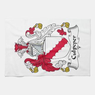 Escudo de la familia de Culpeper Toalla