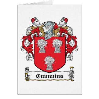 Escudo de la familia de Cummins Felicitacion