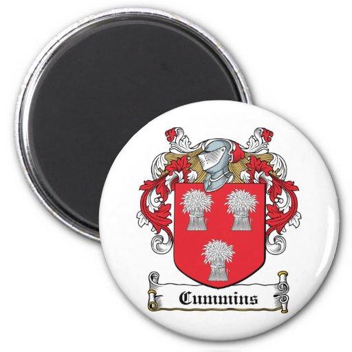 Escudo de la familia de Cummins Imán Redondo 5 Cm