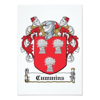 Escudo de la familia de Cummins Comunicado Personalizado