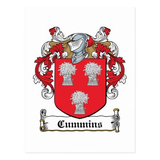 Escudo de la familia de Cummins Postal