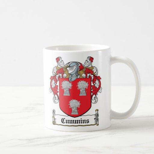 Escudo de la familia de Cummins Taza