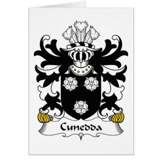 Escudo de la familia de Cunedda Tarjeta De Felicitación