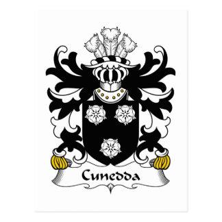 Escudo de la familia de Cunedda Tarjeta Postal