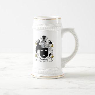 Escudo de la familia de Cunliffe Jarra De Cerveza