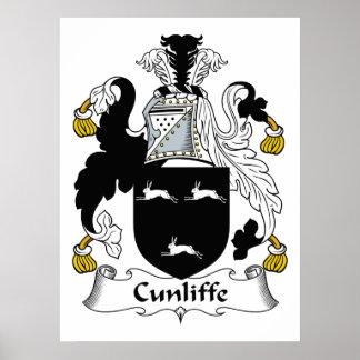 Escudo de la familia de Cunliffe Posters