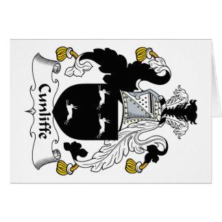Escudo de la familia de Cunliffe Tarjeta De Felicitación