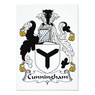 """Escudo de la familia de Cunningham Invitación 5"""" X 7"""""""