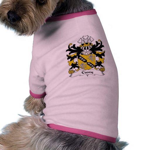 Escudo de la familia de Cuny Camisa De Mascota