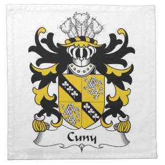 Escudo de la familia de Cuny Servilletas