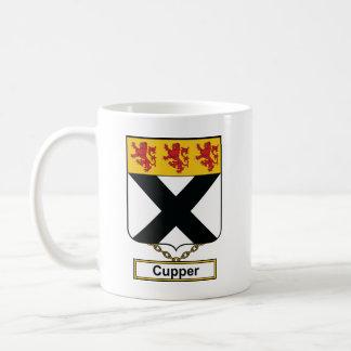 Escudo de la familia de Cupper Taza Básica Blanca
