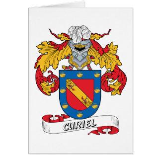 Escudo de la familia de Curiel Tarjeta De Felicitación