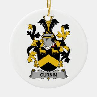 Escudo de la familia de Curnin Adorno Redondo De Cerámica
