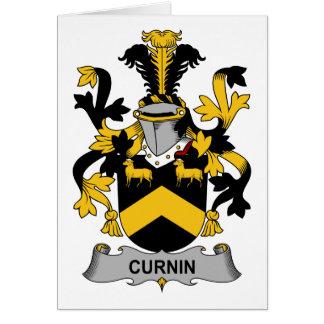 Escudo de la familia de Curnin Tarjeta De Felicitación
